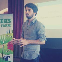 Ici à « Geeks on a Farm », en Allemagne, pour parler de conversion avec des startups.